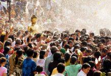 Lễ hội Songkran ở Sanam Luang
