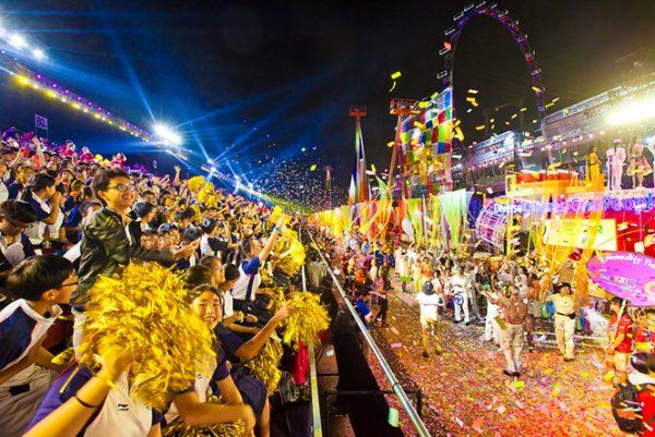 Lễ diễu hành Chingay- du lịch singapore