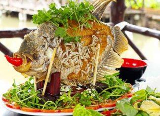 Cá tai tượng chiên xù - đặc sản Vĩnh Long