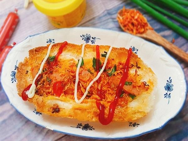 Cách làm bánh mì nướng muối ớt ngon
