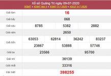 Phân tích XSQT 16/7/2020 chốt KQXS Quảng Trị thứ 5