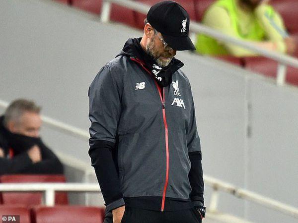 Sau trận thua Arsenal Klopp thất vọng và tức giận