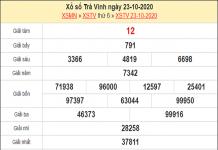 Phân tích XSTV 30/10/2020