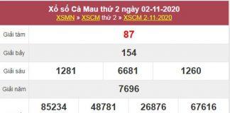 Phân tích XSCM 9/11/2020 chốt lô số đẹp Cà Mau thứ 2
