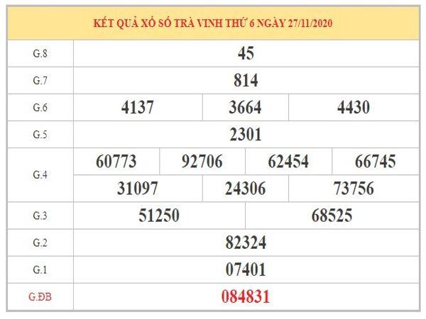 Phân tích XSTV ngày 4/12/2020 dựa trên kết quả kì trước
