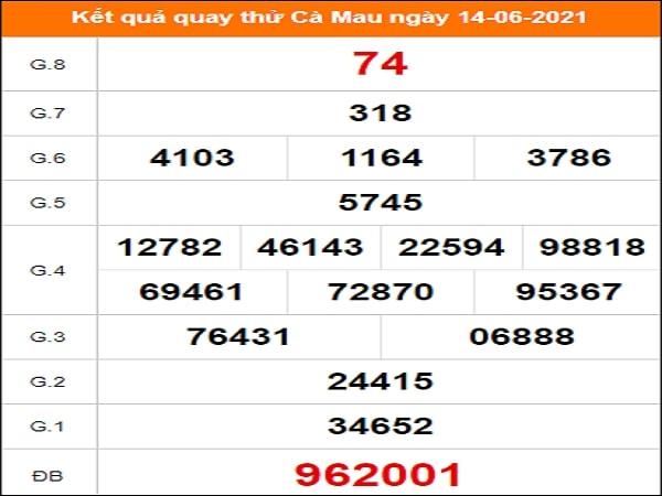 Quay thử xổ số Cà Mau ngày 14/6/2021