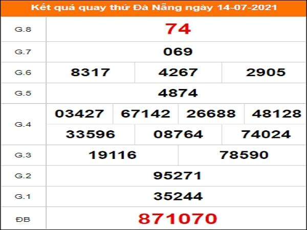 Quay thử xổ số Đà Nẵng ngày 14/7/2021
