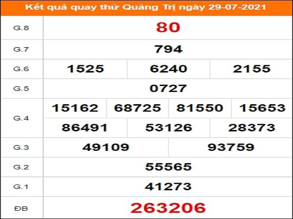 Quay thử xổ số Quảng Trị ngày 29/7/2021