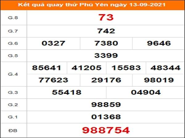 Quay thử xổ số Phú Yên ngày 13/9/2021 lấy hên