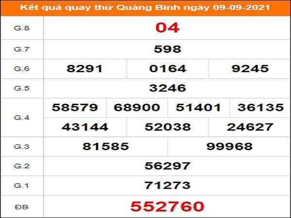 Quay thử xổ số Quảng Bình ngày 9/9/2021