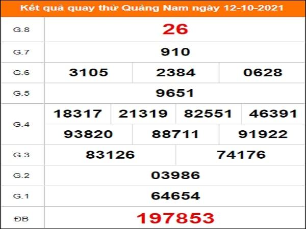 Quay thử xổ số Quảng Nam ngày 12/10/2021